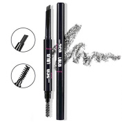 Hey Beauty Eyebrow Pencil Waterproof Automatic Brush Makeup Cosmetic Tool,Black-5#