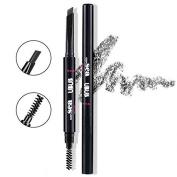 Hey Beauty Eyebrow Pencil Waterproof Automatic Brush Makeup Cosmetic Tool,Black-5#