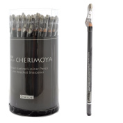 Cherimoya Wooden Eyeliner Lipliner Pencil 72 Pcs - Charcoal
