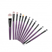 Orangeskycn 12Pcs Cosmetic Eyebrow Eyeshadow Brush Makeup Brush Sets Kits Tools