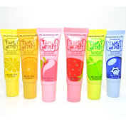 6 KLEANCOLOR TANGY MEDLEY FRUIT INSPIRED SOFTENING LIP GLOSS SCENTED LG1787-B + FREE EARRING