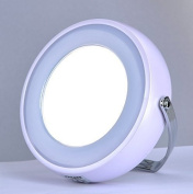 TOUCHBeauty Touch Beauty - 7Cm Double Sided Led Light Makeup Mirror In Pearl White