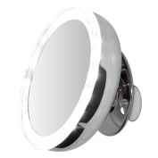 ClearView Led Illuminated Suction Mounted 13cm Mirror - 5X Magnified -Battery Operated Chrome