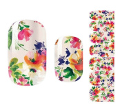 Set of 5 Flowers Stylish Nail Stickers Nail Decals Manicure Decals