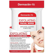 Dermactin-TS Exfoliating Cleansing Facial Wipes Removes Dead Skin