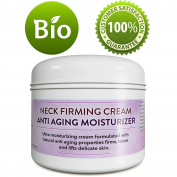 Neck Firming Cream Anti-Ageing Moisturiser For Women And Men - Firms Tones And Lifts Delicate Skin - Anti Wrinkle Cream With Antioxidants Coconut Jojoba & Avocado - 120ml - Paraben free By Honeydew