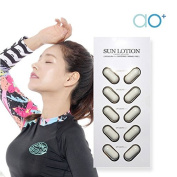 AO+ Sun Lotion Capsule Cosmetic SPF50/PA+++, Whitening, Wrinkle-Free 2ml x 30pcs