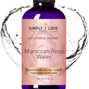 Simply I Love ORGANIC Rose Water Toner for Face & Body. 100% Pure & Natural - Hydrate, Nourish & Revive your Skin - Amazing Skincare. Anti-Ageing. Cruelty Free. SEE RESULTS or MONEY BACK!