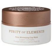 Purity of Elements Pore Minimising Clay Mask, Pore-Minimising Clay Mask Copper 5 ComplexTM Orange Extract Lemon Peel Oil .980ml