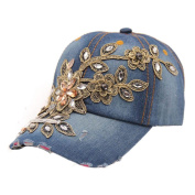 Creazy® New Vogue Women Diamond Flower Baseball Cap Summer Style Lady Jeans Hats
