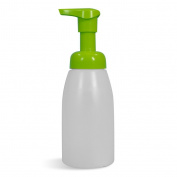 Empty 240ml Natural Bottles with Green Foaming Pump, Set of 4