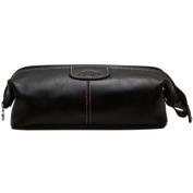 Floto Venezia Dopp Kit in Black Full Grain Leather