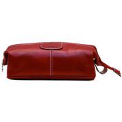 Floto Venezia Dopp Kit in Tuscan Red Full Grain Leather