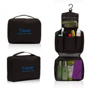 Bedrocker Portable Multi Pockets Toiletry Cosmetic Bag Hanging Travel Bag