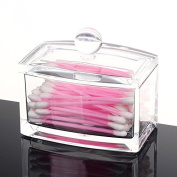 Mysweety Crystal Clear Cotton Swabs Holder Balls Box Cosmetics Makeup Storage Organiser