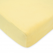 TL Care Heavenly Soft Chenille Crib Sheet, Maize, 70cm x 130cm
