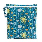 Bumkins Waterproof Zippered Wet Bag, Sea Friends
