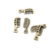 110 Pieces Jewellery Making Charms Findings Antique Bronze Brass Fashion Jewellery Wholesale Supplies Pendant Lots Bulk Supply U0OL7 Haircomb