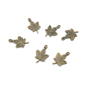 120 Pieces Jewellery Making Charms Findings Antique Bronze Brass Fashion Jewellery Wholesale Supplies Pendant Lots Bulk Supply YB051 Maple