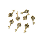150 Pieces Jewellery Making Charms Findings Antique Bronze Brass Fashion Jewellery Wholesale Supplies Pendant Lots Bulk Supply FR062 Skeleton Key