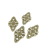 50 Pieces Jewellery Making Charms Findings Antique Bronze Brass Fashion Jewellery Wholesale Supplies Pendant Lots Bulk Supply MP069 Flower Pattern