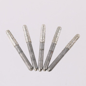 LYWS 5PCS 15 Degree 4x3.5x15mm Diamond Sand CNC Ball Nose Carving Drill Engraving Machine Tool