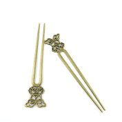 20 Pieces Jewellery Making Charms Findings Antique Bronze Brass Fashion Jewellery Wholesale Supplies Pendant Lots Bulk Supply BR017 Hairpin Head Pins