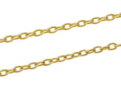 3m Gold Tone Cable Chain- Unsoldered Open Links- Jewellery Making-