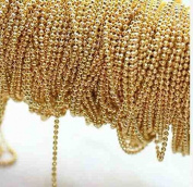 3m Bulk Antique Light Gold Ball Bead Chain for Jewellery Making-