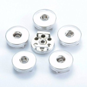 Simple Ever 18mm Slide Snap Button Accessory for interchangeable snaps for Noosa Chunk necklaces, rings,Jewerly & bracelet Pack of 5