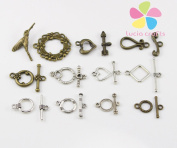 Mixed Sizes Ancient hand-beaded Bracelet clasp OT buckle diy jewellery accessories 2*11set/lot