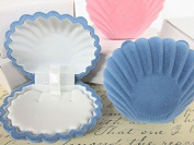 12pc Blue Sea Shell Design Necklace Earring Jewellery 5.1cm Gift Box JD-4 US Seller Ship Fast