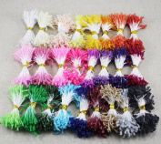 3mm Random Mixed Colour glass flower stamen diy pistil stamen 1800pcs/lot