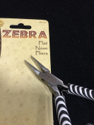 BeadSmith Zebra Flat Nose Pliers, High Polished Steel