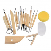 Fullkang 19 Piece Pottery Tools Sculpting Carving Tool Set