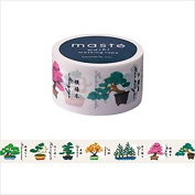 Maste Mark's Washi Masking Deco Tape Standard Bonsai Tree Japan Edition