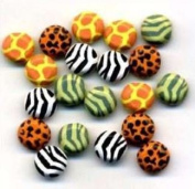 Jazzy Brads Zoo Assortment (20 brads) 1cm Diameter