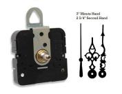 Takane Quartz Clock Movement Mechanism With 7.6cm Serpentine Hands and Black Second Hand, U.S.A. Made