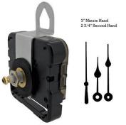 Seiko-SKP Quartz Clock Movement Mechanism With 7.6cm Black Spade Hands and Black Second Hand