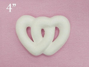 12 X My Lucky Break Foam Double Heart White 10cm