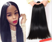 Magic Hair Mixed length 20cm - 80cm Straight Wave Brazilian Virgin Remy Human Hair Weave Weft 3 Bundles 300 Grammes Unprocessed Natural Colour Extensions 100% Brazilian Human Hair