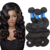 SUPERLOVE Brazilian Body Wave 3 Bundles,Human Hair Weft,100g/Bundle,Natural Colour (16 18 20) Inches