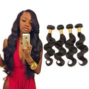 Magic Hair Mixed length 20cm - 80cm 6a Brazilian Virgin Hair Body Wave 3 Bundles 100% Unprocessed Virgin Human Hair Weave Extensions Natural Colour