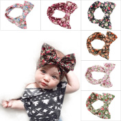 EagleUS 6pcs Baby Girls Toddler Bow Headband Elastic Hair Bows Newborn Headwear