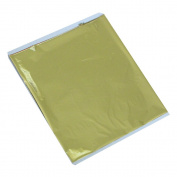 100 Sheets Taiwan Shiny Imitation Gold Leaf Gilding Foil Sheet Colour Like 24K Gold 13.5X14CM
