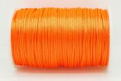 NEON ORANGE 2mm Rattail Satin Cord Shamballa Macrame Beading Nylon Kumihimo String