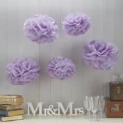 Sorive® Lilac Tissue Paper Pom Poms 5 Pack Wedding & Party Decorations - Vintage Lace