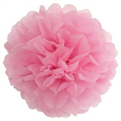 C-Pioneer 10 PCS Wedding Party Xmas Pink Paper Pom Poms Flowers Tissue Home Outdoor Decor