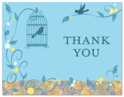 50 Romantic Bird Cage Vines Flourish Thank You Cards