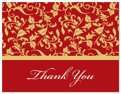 50 Modern Contemporary Leavy Flourish Thank You Cards